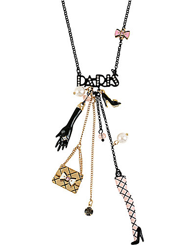 PARIS CHARM Y NECKLACE BLACK