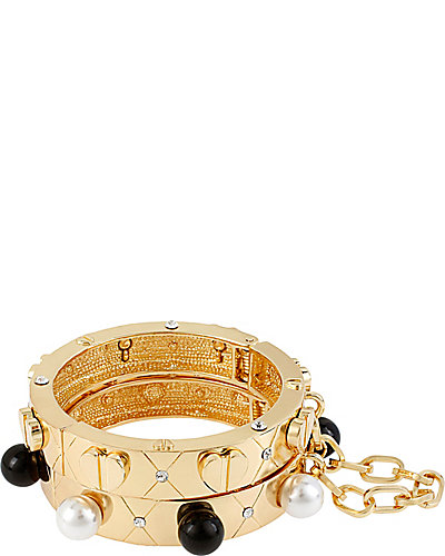 PARIS HINGE BANGLE 2 PIECE SET GOLD
