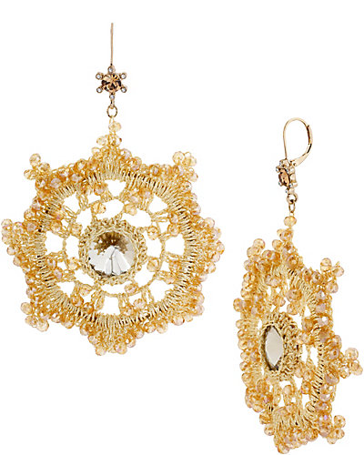PATINA CROCHET DROP EARRING GOLD