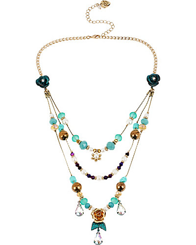PATINA ILLUSION NECKLACE BLUE