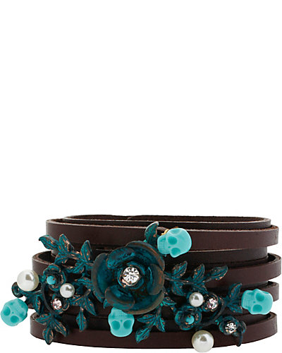 PATINA LEATHER STRAP BRACELET MULTI
