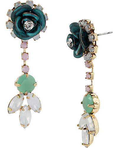 PATINA ROSE CLSTER DROP EARRING MULTI