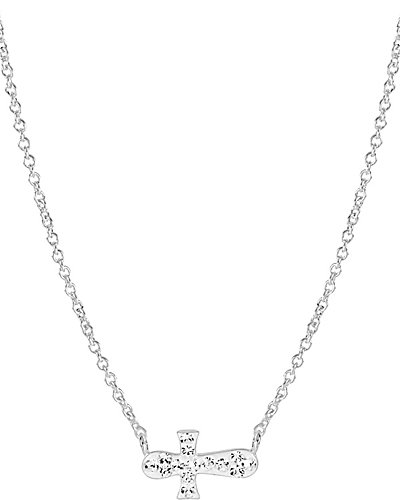 PAVE CROSS PENDANT CLEAR