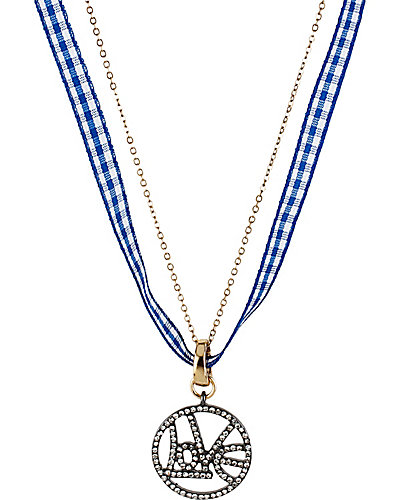 PAVE PENDANT LOVE BLUE