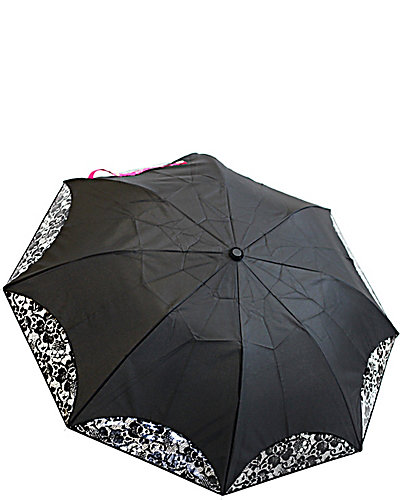PEEKABOO LACE AUTO OPEN UMBRELLA BLACK