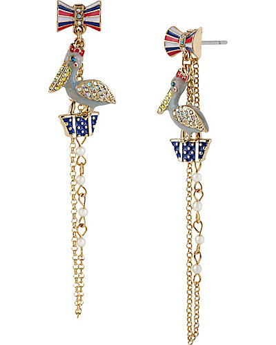 PELICAN PURSE LONG EARRING MULTI
