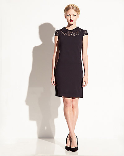 PETER PAN COLLAR DRESS BLACK