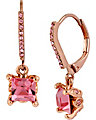 PINK CRYSTAL EURO DROP EARRING PINK
