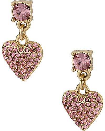 PINK CRYSTAL HEART DROP PINK