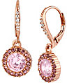 PINK CRYSTAL ROUND DROP EARRING PINK
