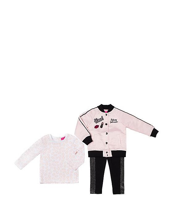 b5c2e144ce0b PINK LADY TOO TODDLER 3 PIECE JACKET SET Pink