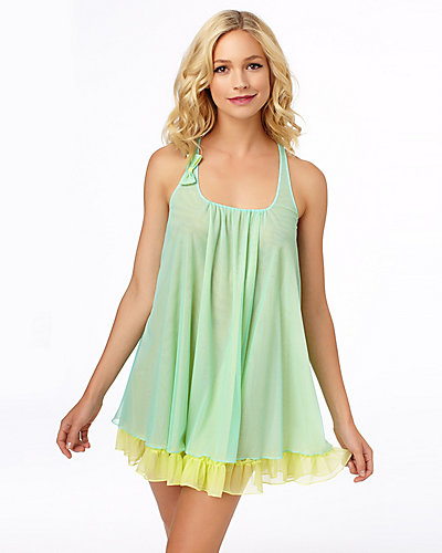 PLUS SASSY DOUBLE LAYER TRICOT SLIP GREEN