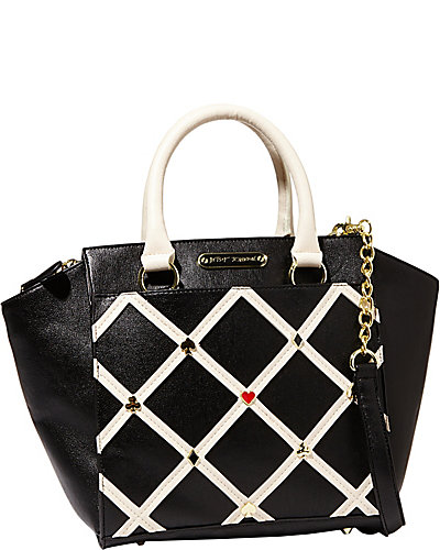 POKER FACE SATCHEL BLACK