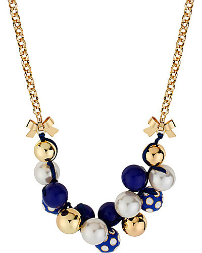 POLKA DOT CLUSTER NECKLACE BLUE
