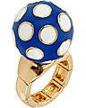POLKA DOT STRETCH RING BLUE