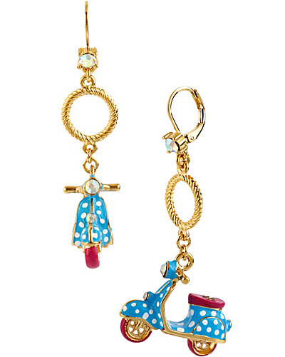 POLKA DOT VESPA BLUE EARRING LIGHT BLUE