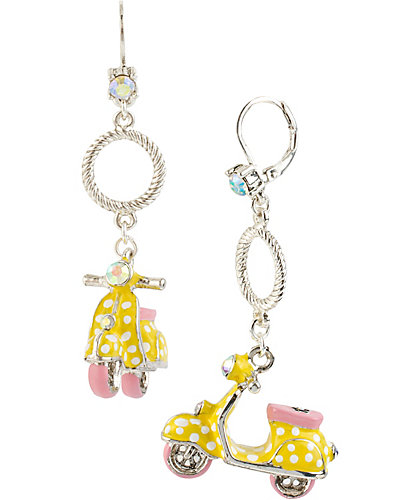 POLKA DOT VESPA YELLOW EARRING YELLOW