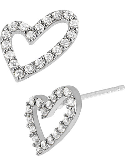 PRECIOUS LUXURIES GOLD HEART EARRING CRYSTAL