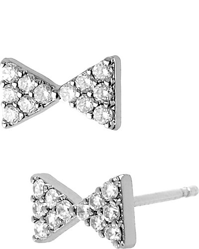 PRECIOUS LUXURIES PAVE BOW EARRING CRYSTAL