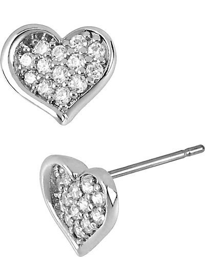PRECIOUS LUXURIES PAVE HEART EARRING CRYSTAL