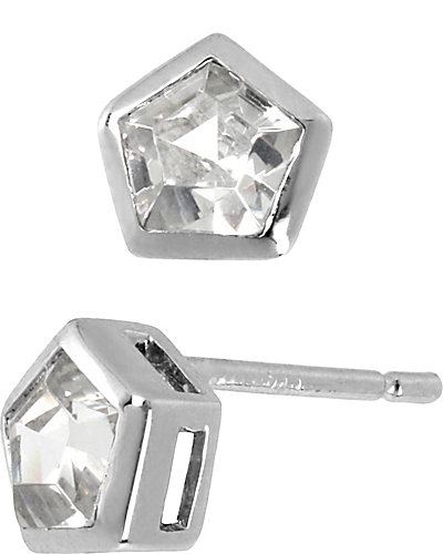 PRECIOUS LUXURIES PENTAGON EARRING CRYSTAL