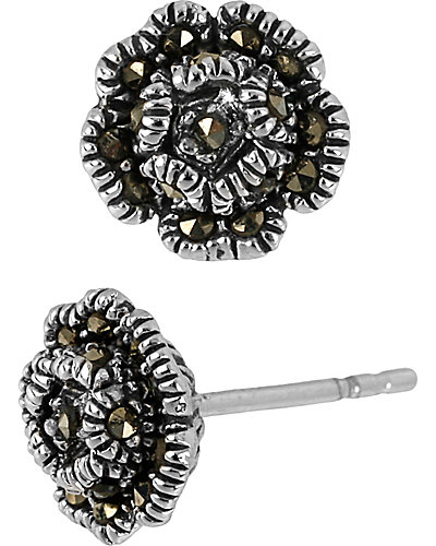PRECIOUS LUXURIES ROSE EARRING METALLIC