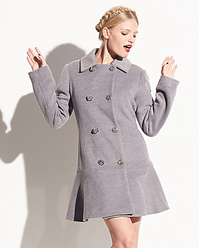 PRETTY BETSEY FAUX MOHAIR JACKET GREY