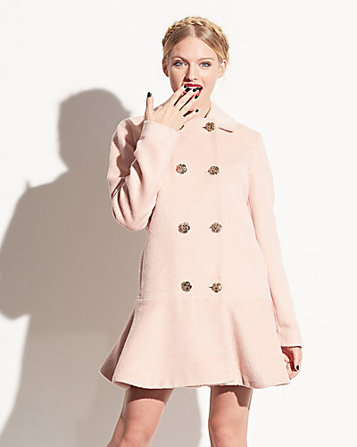 PRETTY BETSEY FAUX MOHAIR JACKET ROSE