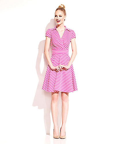 PRETTY IN PINK STRIPED DRESS PINK