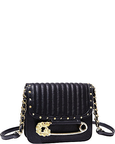 PRETTY IN PUNK CROSSBODY BLACK