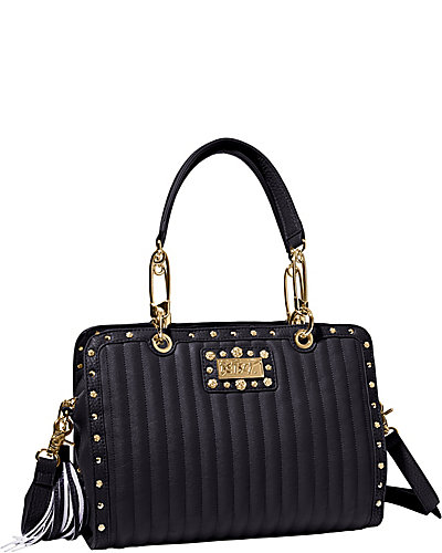 PRETTY IN PUNK SATCHEL BLACK