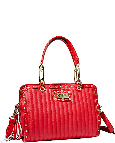 PRETTY IN PUNK SATCHEL RED