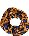PRETTY KITTY CHAIN EDGE INFINITY SCARF BROWN