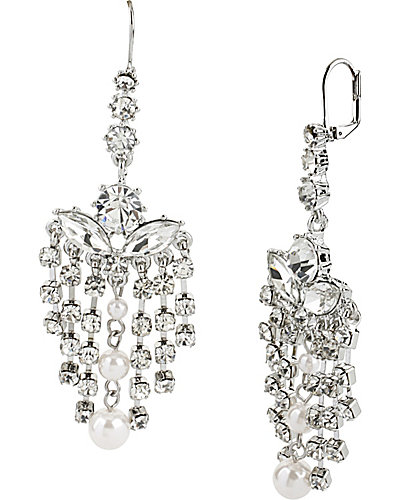 PRETTY PEARL PUNK CHANDELIER EARRING CRYSTAL