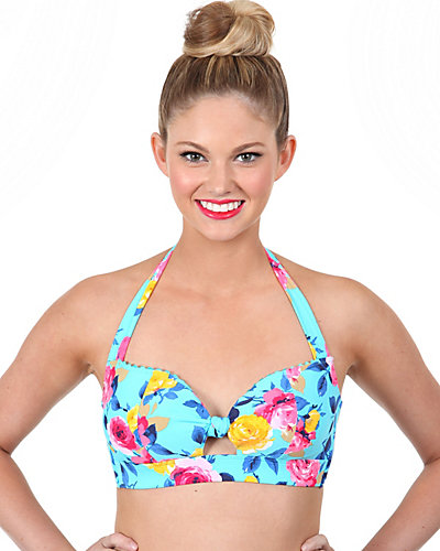 PRIMA ROSE RETRO HALTER TOP MULTI