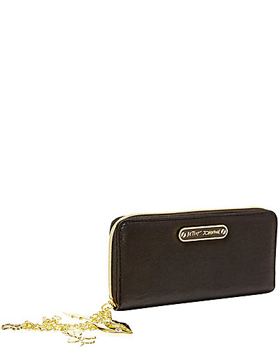 PRINCESS CHARMING ZIP AROUND WALLET BLACK