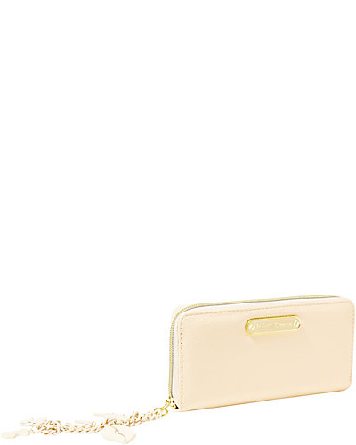 PRINCESS CHARMING ZIP AROUND WALLET CREAM