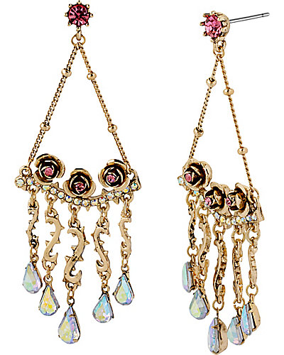 PROM PARTY CHANDELIER EARRING CRYSTAL