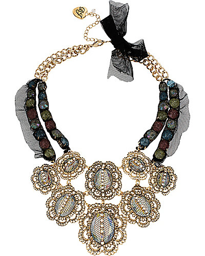 PROM PARTY MULTI STONE FRONTAL NECKLACE MULTI