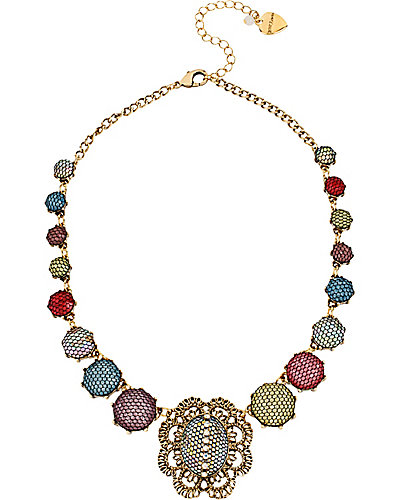 PROM PARTY MULTI STONE NECKLACE MULTI