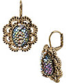PROM PARTY OVAL STONE DROP EARRING MULTI