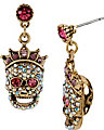 PROM PARTY SKULL GIRL DROP EARRING MULTI
