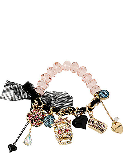 PROM PARTY SKULL GIRL STRETCH BRACELET MULTI