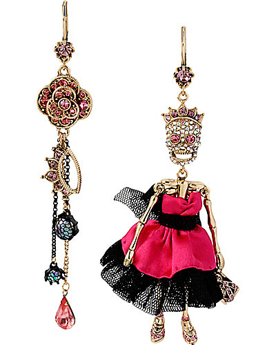 PROM PARTY SKULL PROM GIRL EARRING MULTI
