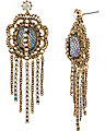 PROM PARTY STONE WATERFALL EARRING CRYSTAL