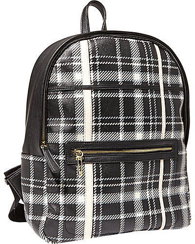 RAD IS PLAID BACKPACK BLACK
