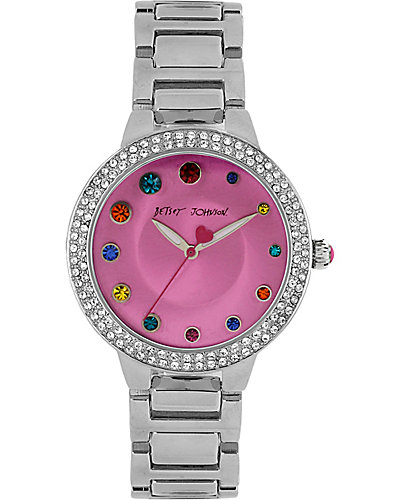 RAINBOW DOT DIAL WATCH SILVER