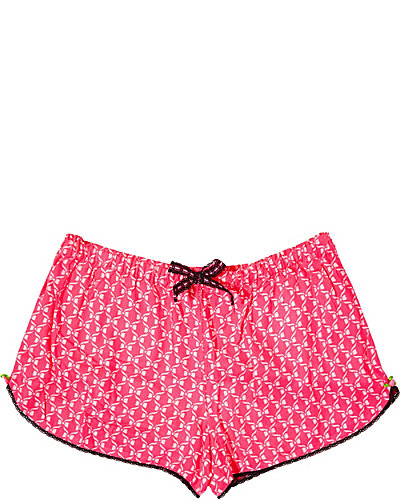 RAYON WOVEN ITEM SHORT PINK