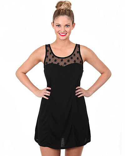 RETRO REVIVAL TANK DRESS COVERUP BLACK