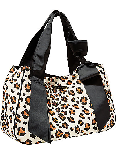 RIBBONS AND BOWS OH MY TOTE LEOPARD